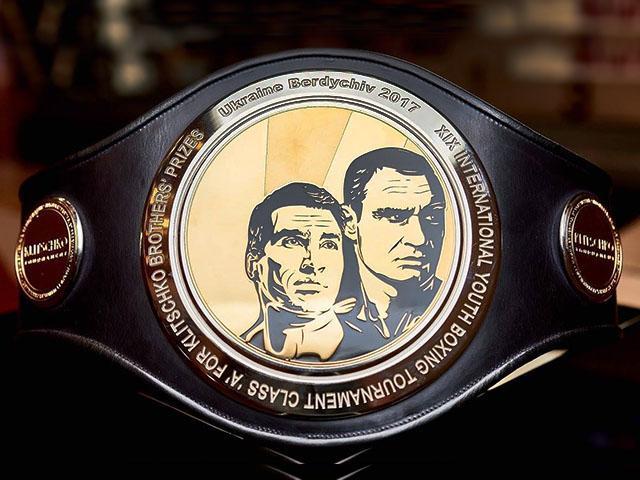 Боксерский пояс чемпиона Klitschko Tournament,