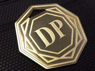 """Латунные номерки в гардероб """"dp"""""""