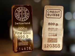"муляжи слитков ""Argor Switzerland и Credit Suisse"""
