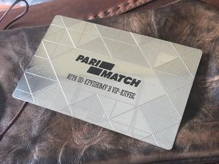 """клубная карта """"pari match"""""""