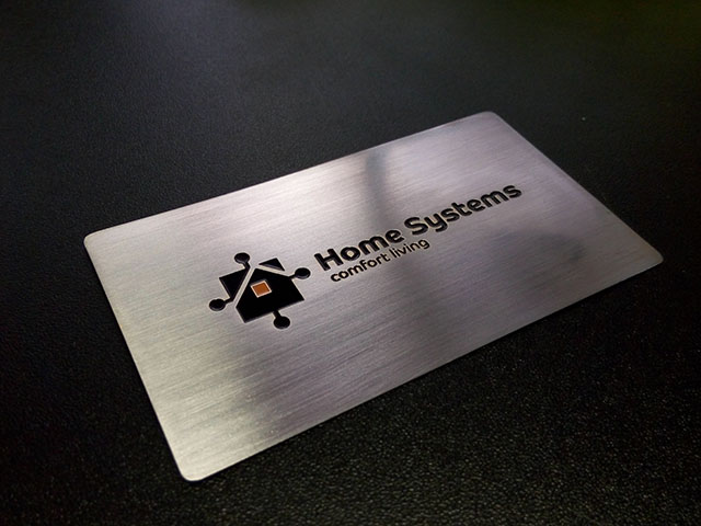custom metal business cards (set)