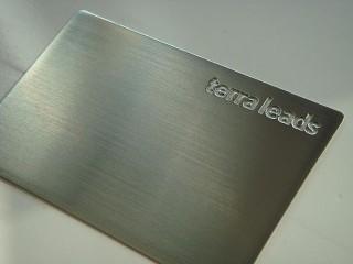 """металлические визитки """"terra leads"""""""