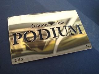 """клубные карты """"podium"""""""